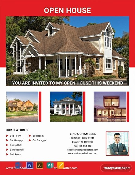 Open House Flyer Templates New 64 Free Real Estate Flyer Templates [download Ready Made