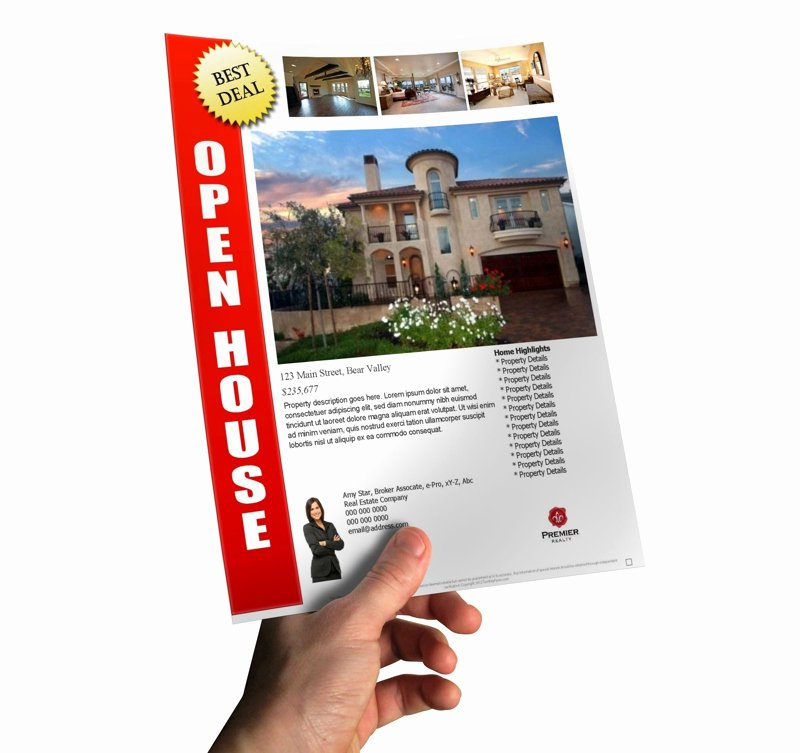 Open House Flyer Templates New How to Make A Last Minute Open House Flyer In Less Than