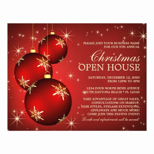 Open House Flyer Templates Unique Christmas & Holiday Open House Flyer Template
