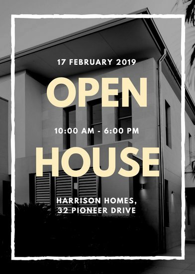 Open House Flyer Templates Unique Customize 101 Real Estate Flyer Templates Online Canva
