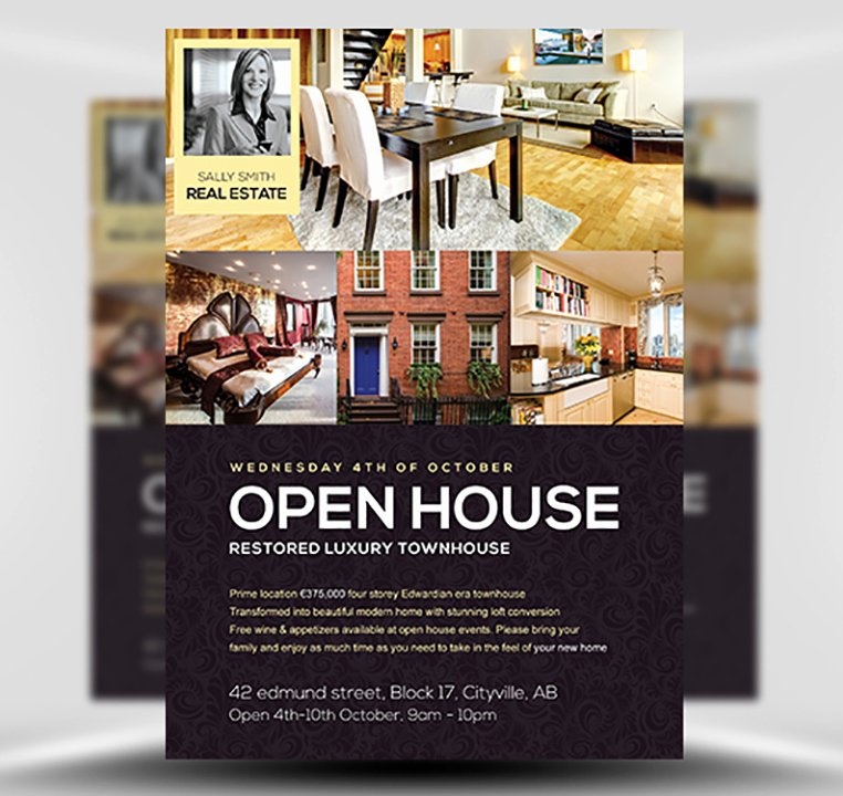 Open House Flyers Templates Awesome Open House Flyer Template Flyerheroes