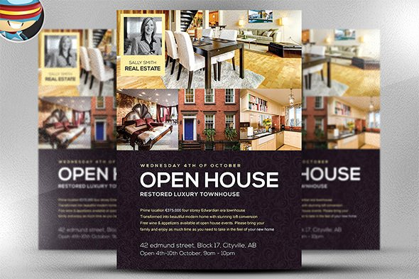 Open House Flyers Templates Beautiful 42 Open House Flyer Templates Word Psd Ai Eps Vector