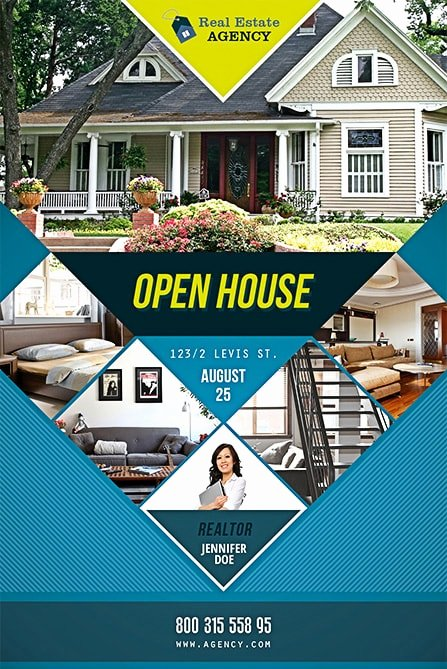 Open House Flyers Templates Beautiful Open House Free Psd Flyer Template