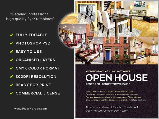Open House Flyers Templates Elegant Open House Flyer Template Flyerheroes