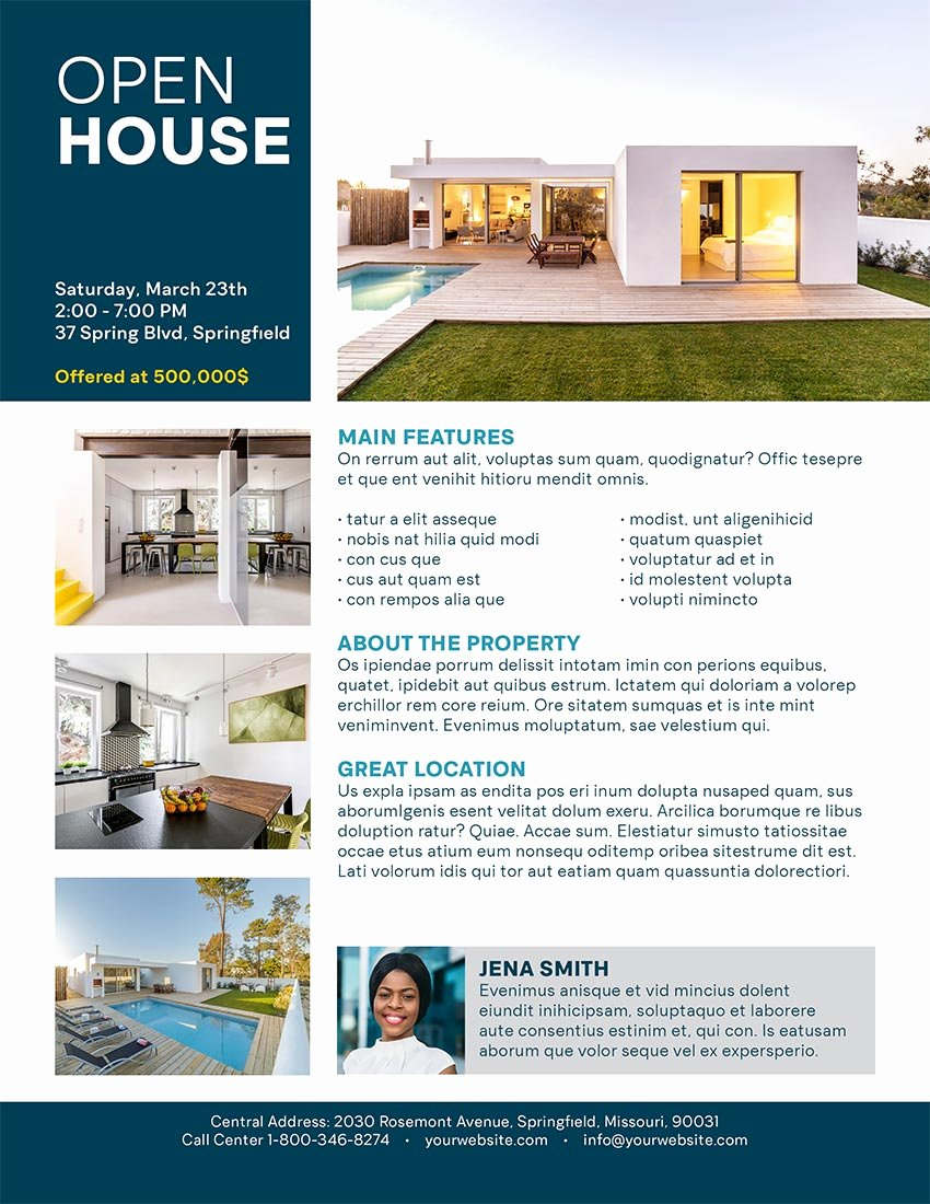 Open House Flyers Templates Fresh How to Make An Open House Flyer Template In Indesign