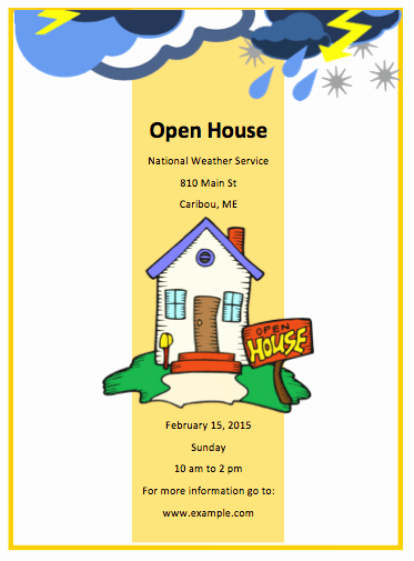 Open House Flyers Templates Fresh Open House Flyer Template Free Flyer Templates