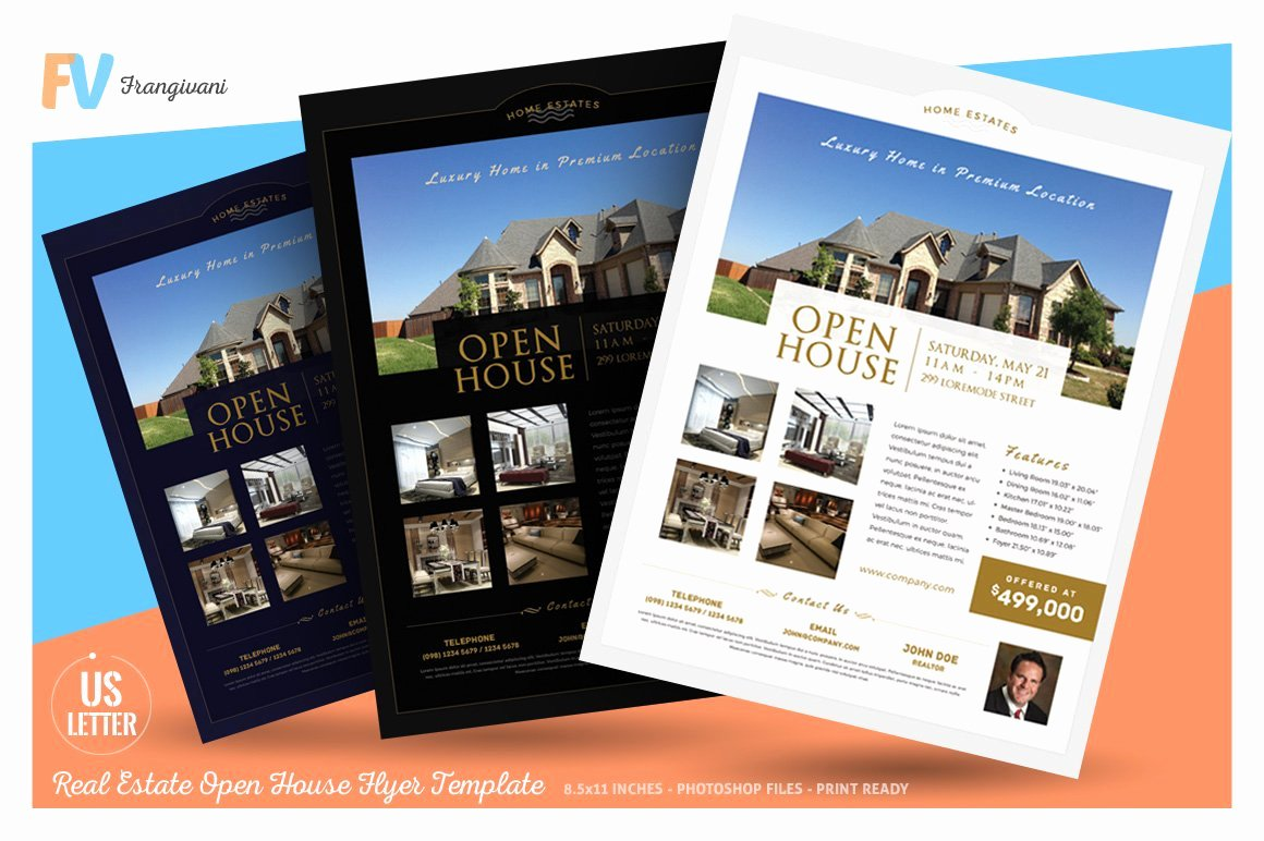 Open House Flyers Templates Fresh Real Estate Open House Flyer Flyer Templates Creative