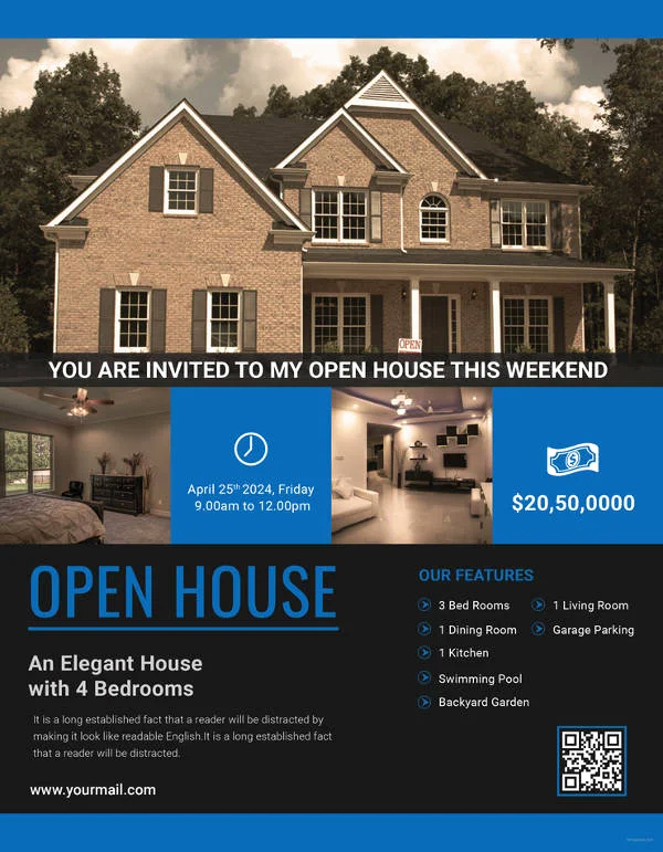 Open House Flyers Templates Lovely 15 Best Free Open House Flyer Templates