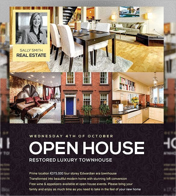 Open House Flyers Templates Lovely Open House Flyer Templates Word Excel Samples