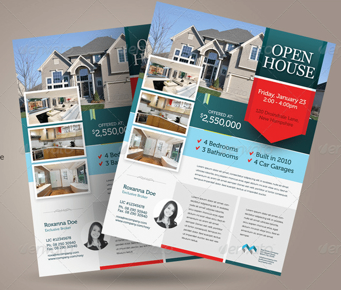 Open House Flyers Templates Luxury Free Open House Flyer Template – Downloadable