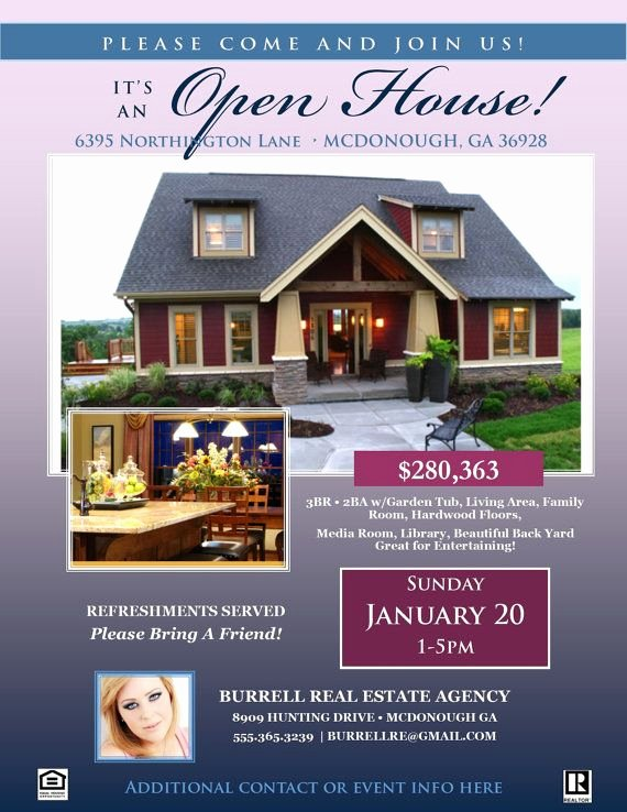 Open House Flyers Templates New Real Estate Open House Flyer Template Microsoft