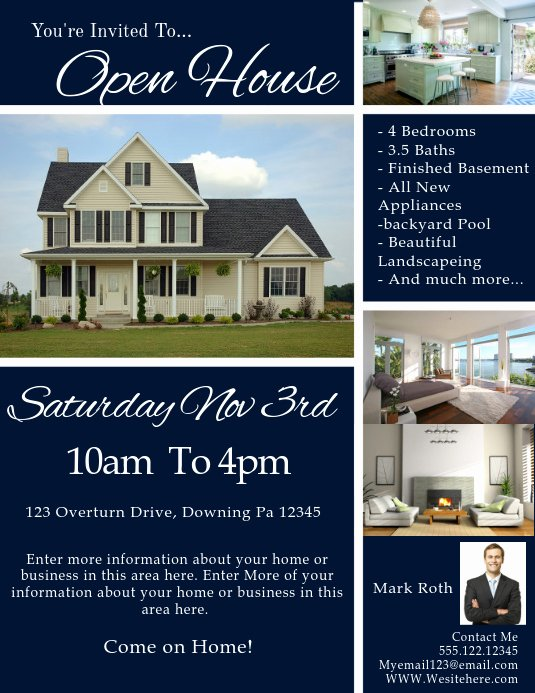 Open House Flyers Templates New Real Estate Template