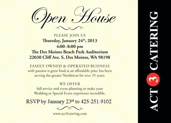 Open House Invitation Templates Best Of Sample Open House Invitation