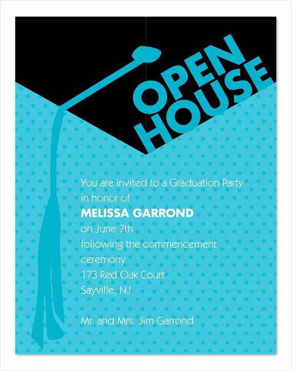 Open House Invitation Templates Fresh 49 Graduation Invitation Designs & Templates Psd Ai