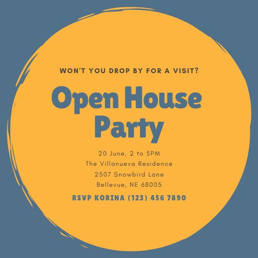Open House Invitation Templates Lovely Customize 186 Open House Invitation Templates Online Canva