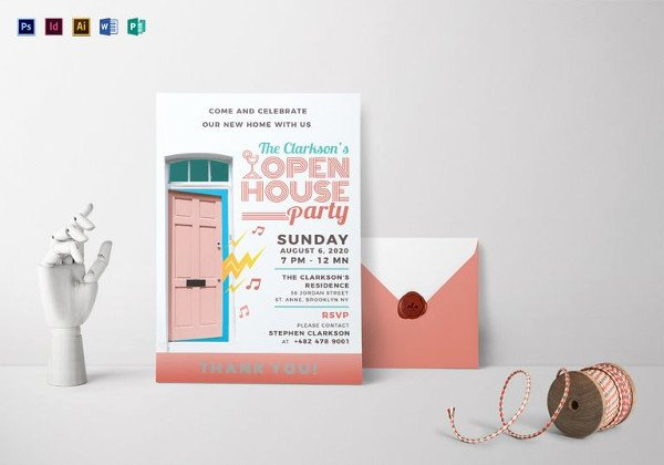 Open House Invitation Templates Luxury 25 Open House Invitation Templates Free Sample Example