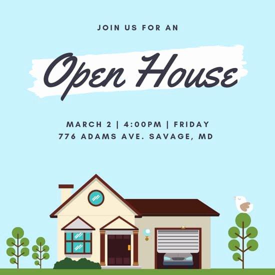 Open House Invitation Templates Luxury Customize 157 Open House Invitation Templates Online Canva