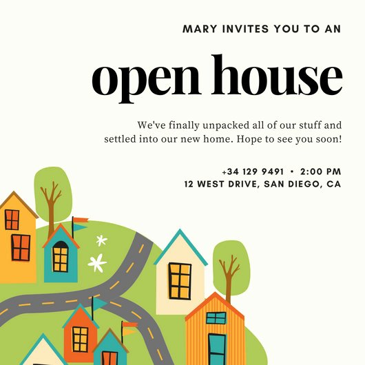Open House Invitation Templates Luxury Open House Invitation Templates Canva