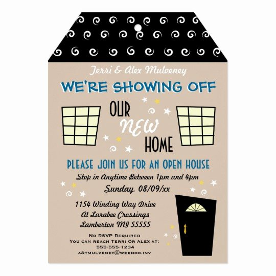 Open House Invitation Templates New Whimsical Tag Cut Open House Invitation