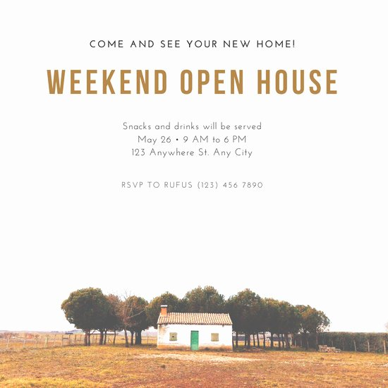 Open House Invitation Templates Unique Customize 157 Open House Invitation Templates Online Canva