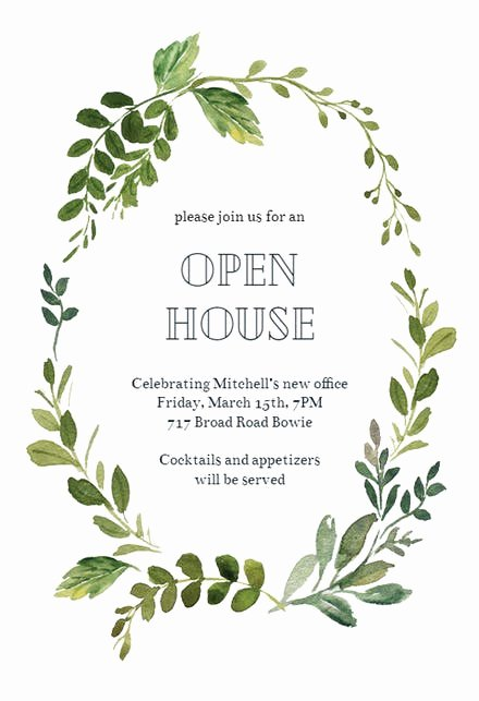 Open House Invitation Templates Unique Open House Invitation Templates Free