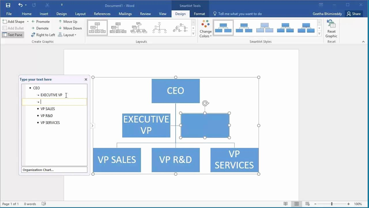 Org Chart Template Word Luxury How to Create An organization Chart In Word 2016