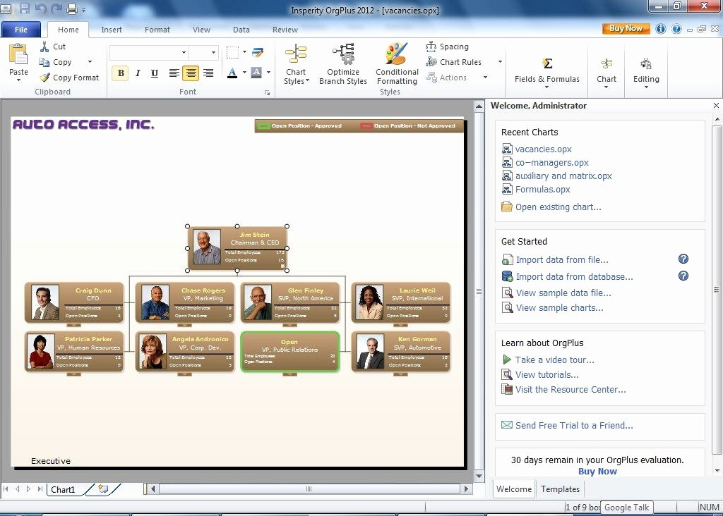 Organizational Chart Template Free Awesome Create Professional Looking organizational Charts with