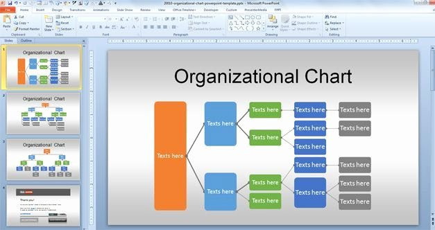 Organizational Chart Template Free New Free org Chart Powerpoint Template for organizational