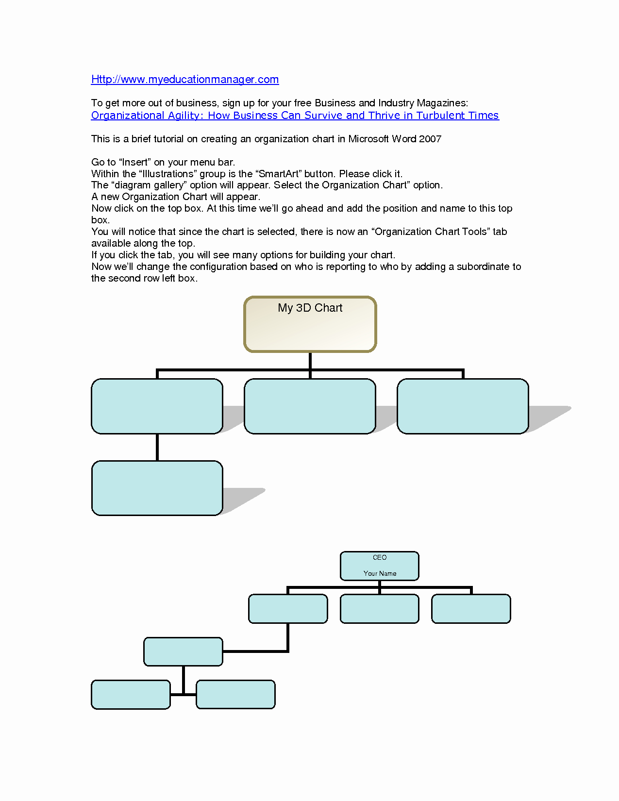 Organizational Chart Template Word Inspirational organizational Chart Template Word