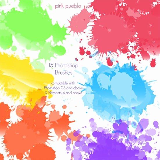 Paint Splatter Brush Photoshop Inspirational 110 Best Downloadable Shop Paint Splatter Brushes