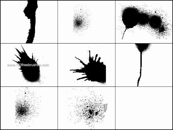 Paint Splatter Brush Photoshop Inspirational Splash Splatter Brushes Free