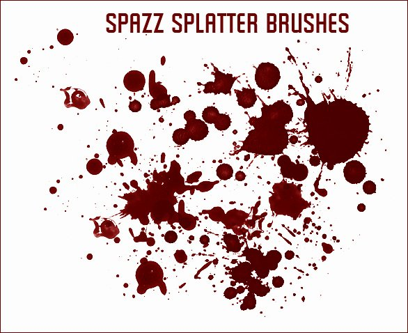 Paint Splatter Brush Photoshop Unique Spazz Splatter Brushes by Spazz24 On Deviantart