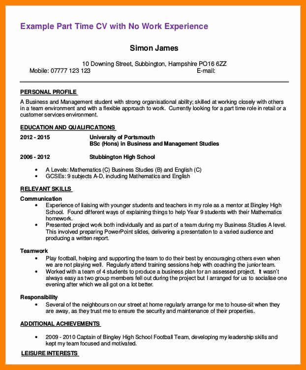 Part Time Job Resume Awesome 8 Parttime Job Resume