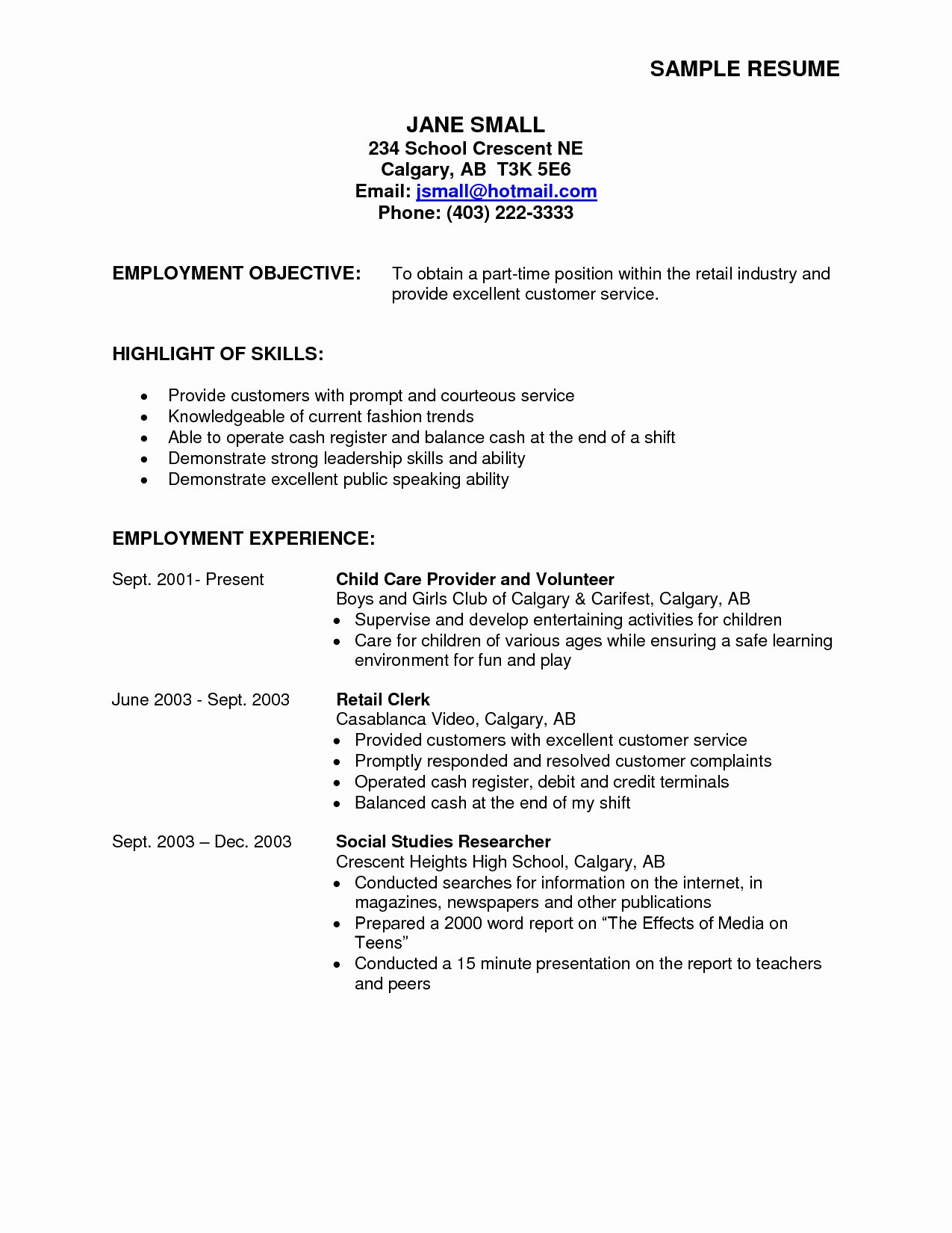 Part Time Job Resume Fresh 23 Most Useful Part Time Resume Types Just for 2019