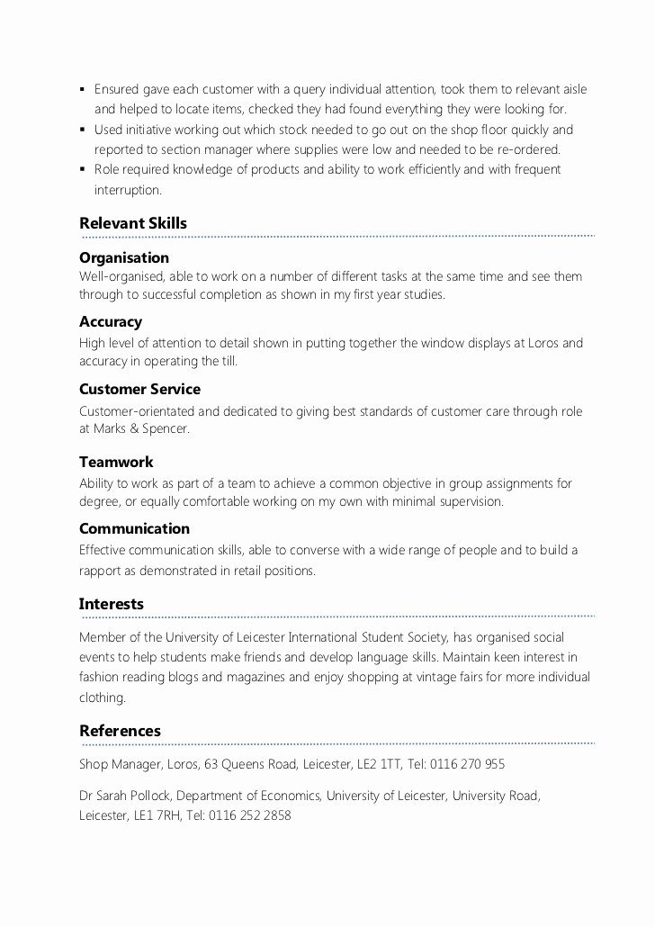 Part Time Job Resume Lovely Part Time Job Resume Template Resume Ideas