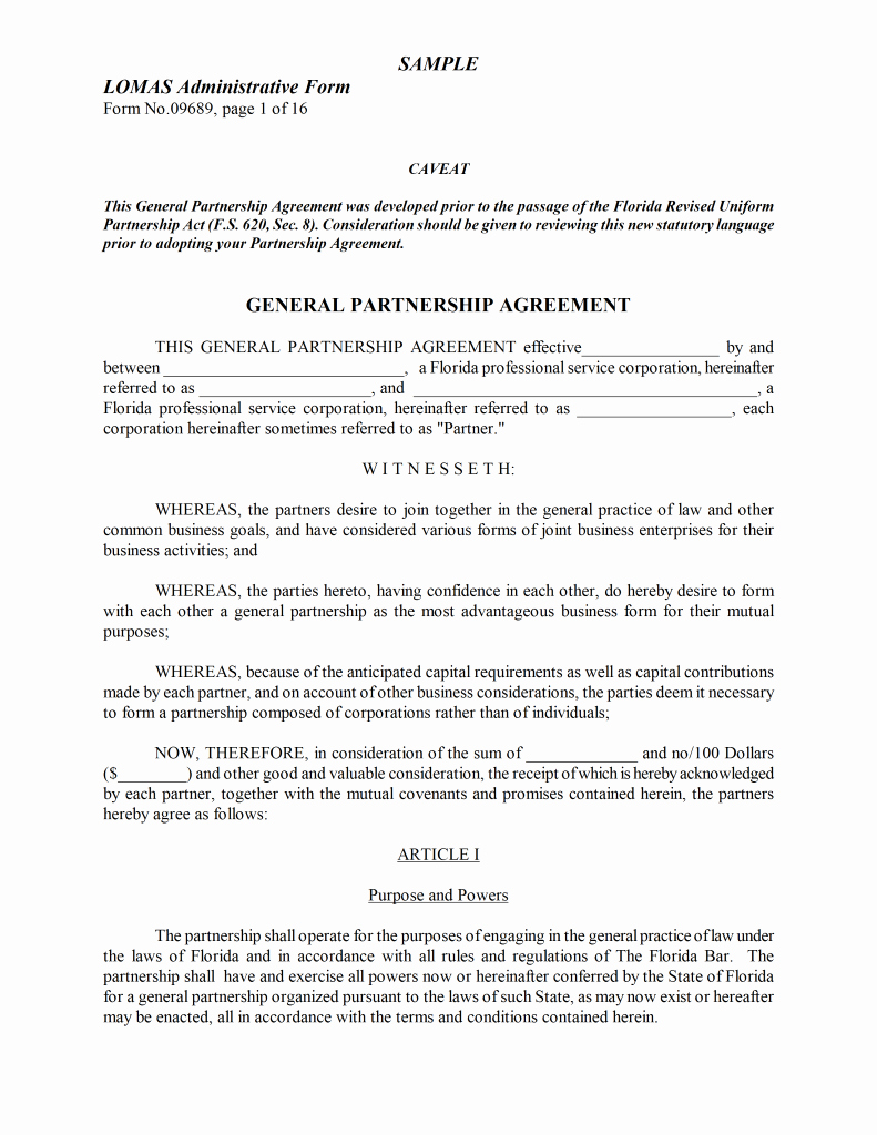 Partnership Agreement Template Word Fresh Partnership Agreement Template