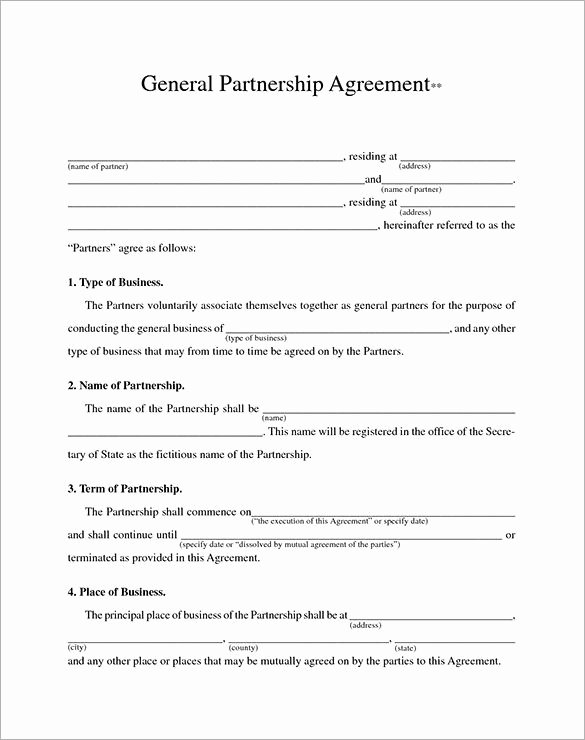 Partnership Agreement Template Word Inspirational Business Contract Template – 10 Free Word Pdf Documents