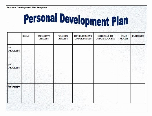 Personal Development Plan Template Beautiful for Those that are Looking to Develop Grow as People