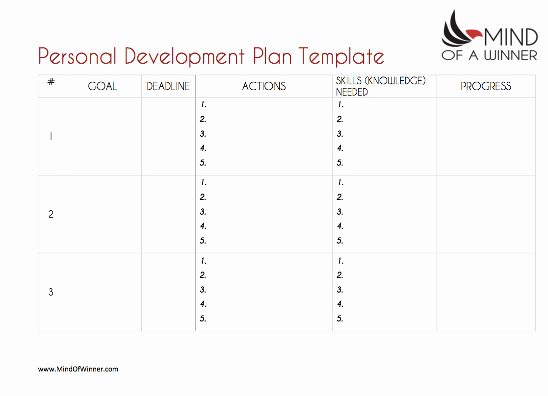 Personal Development Plan Template Beautiful the Ultimate Personal Development Plan Guide Free