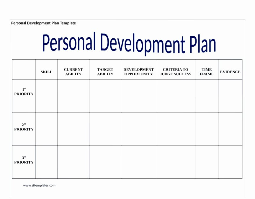 Personal Development Plan Template Luxury 6 Personal and Professional Development Plan Template