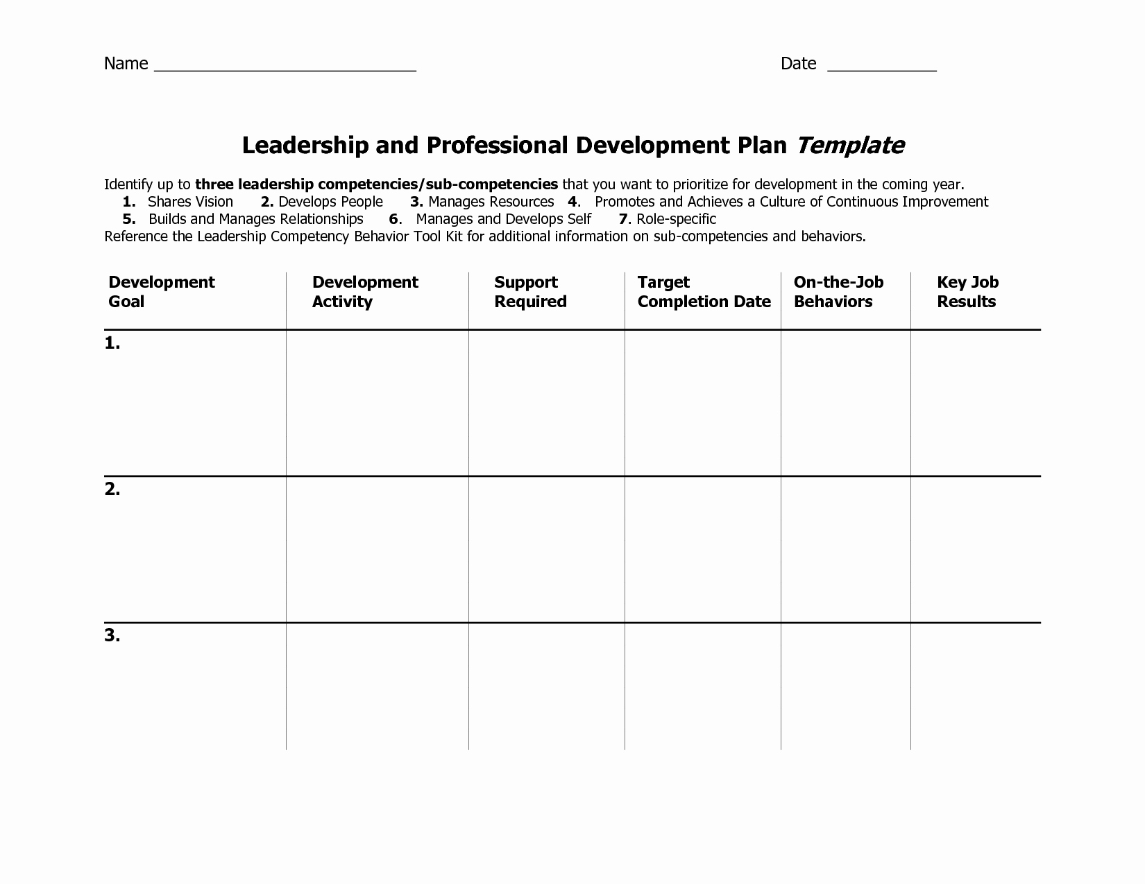 Personal Development Plan Template New Individual Development Plan Template Word Google Search
