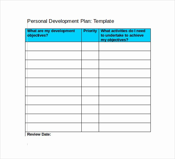 Personal Development Plan Template New Sample Development Plan Template 11 Free Documents In