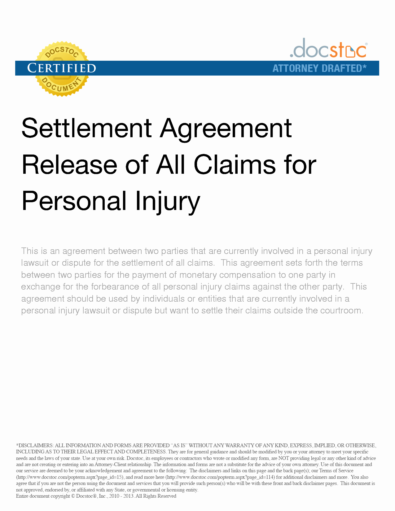 Personal Injury Waiver form Elegant 9 Best Of Settlement Agreement and Release