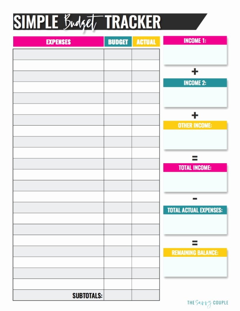 Personal Monthly Budget Template Luxury 10 Bud Templates that Will Help You Stop Stressing