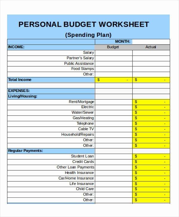 Personal Monthly Budget Template Luxury 25 Bud Templates In Excel