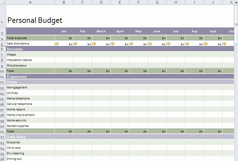 Personal Monthly Budget Template Luxury Personal Bud Template