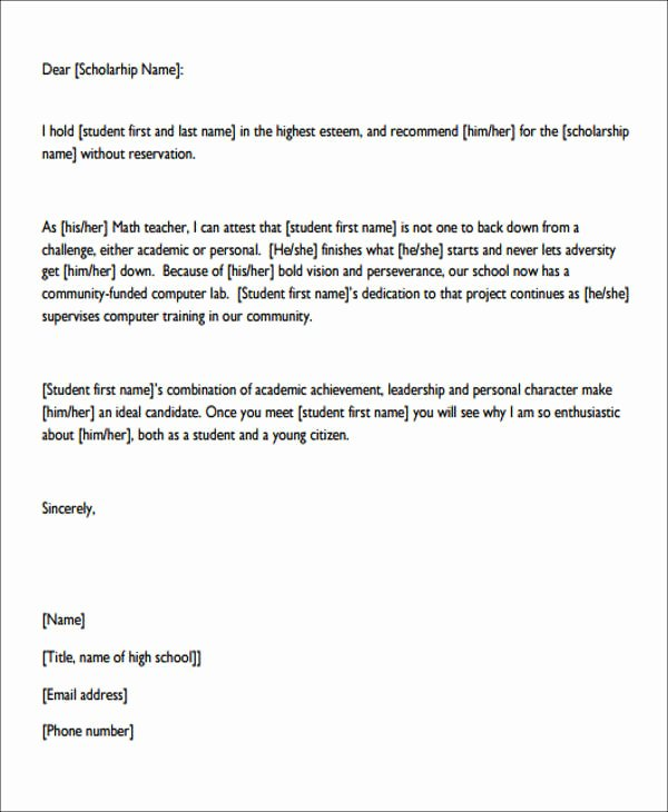 Personal Recommendation Letter Sample Awesome 7 Sample Personal Re Mendation Letter Free Sample