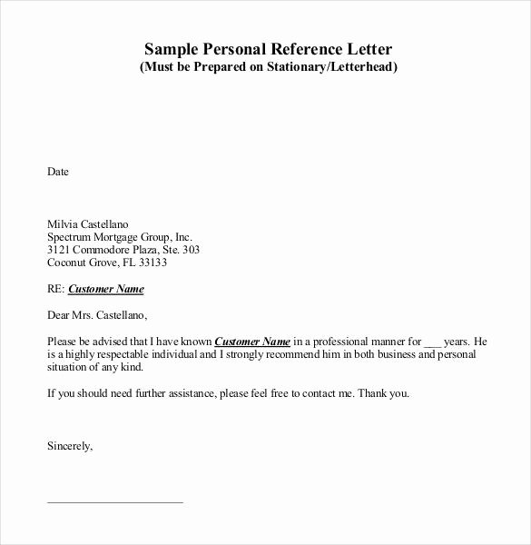 Personal Recommendation Letter Sample Beautiful 42 Reference Letter Templates Pdf Doc