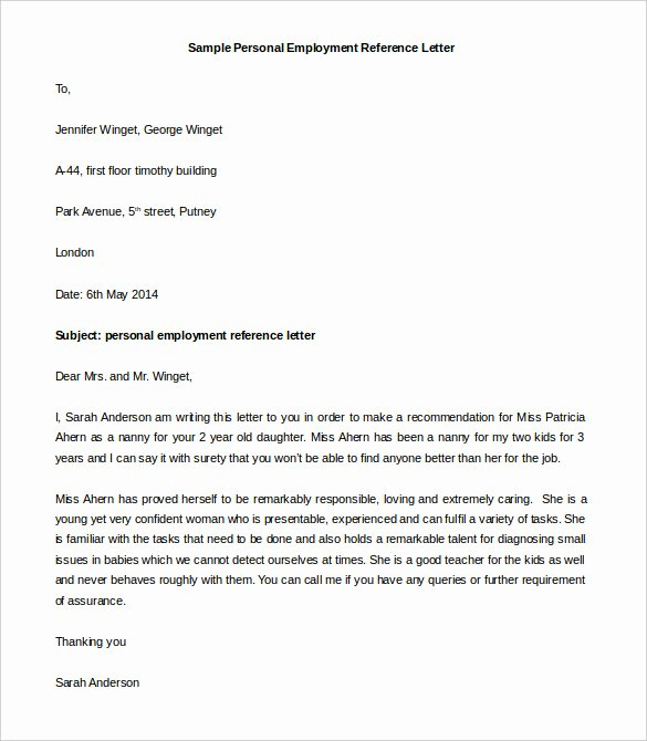 Personal Recommendation Letter Sample Best Of 44 Personal Letter Templates Pdf Doc