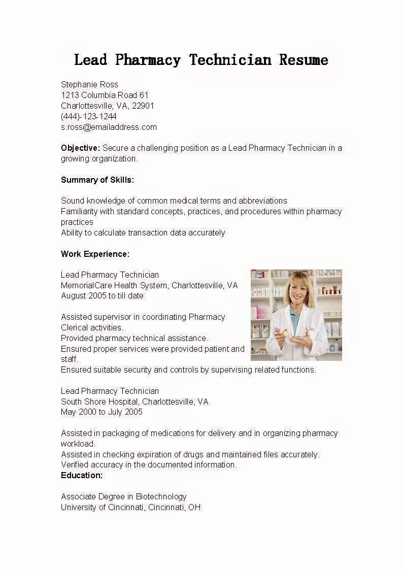 Pharmacy Tech Resume Samples Best Of Resume Samples Lead Pharmacy Technician Resume Sample